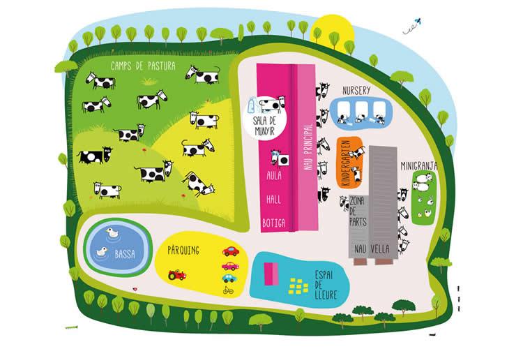 mapa granja Cal Gel