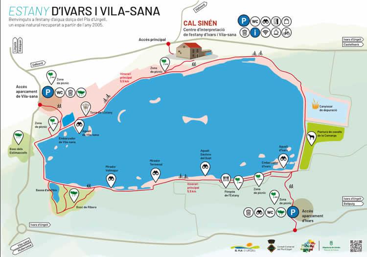 Estany d'Ivars d'Urgell i Vila-sana mapa