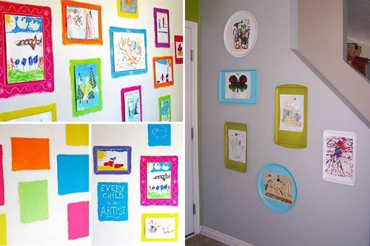 com exposar els dibuixos dels nens