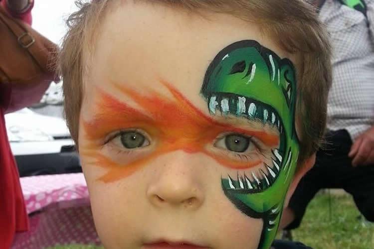 pintem un drac a la cara