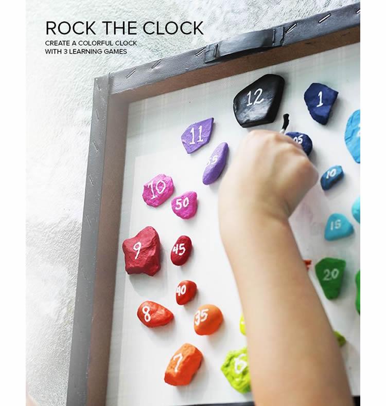 Aprenem les hores amb un rellotge de pedres de colors
