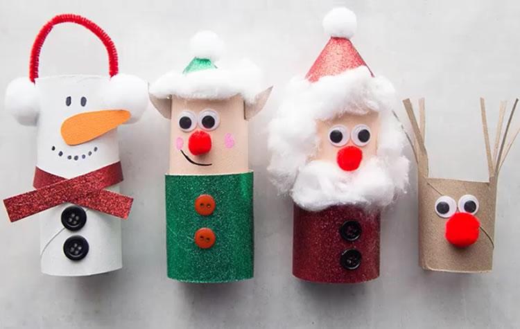 Manualitats de Nadal amb tubs de cartró