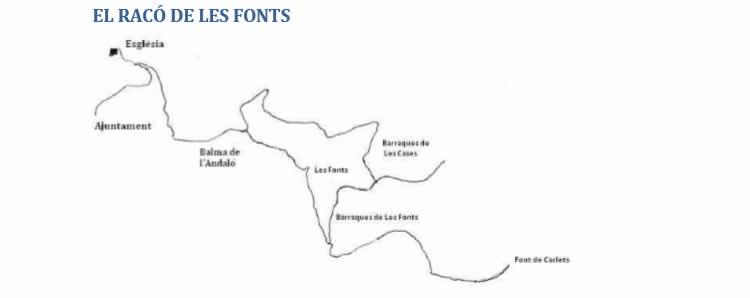 Balma de l'Andaló i Les fonts de Rellinars