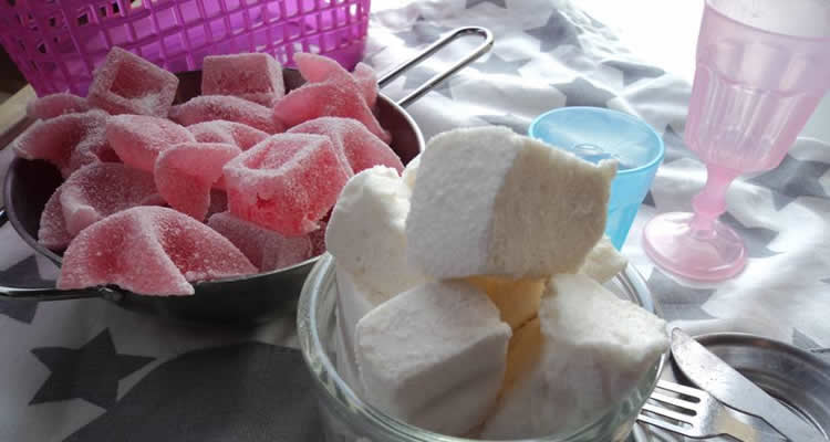 gominoles i núvols de sucre fets a casa