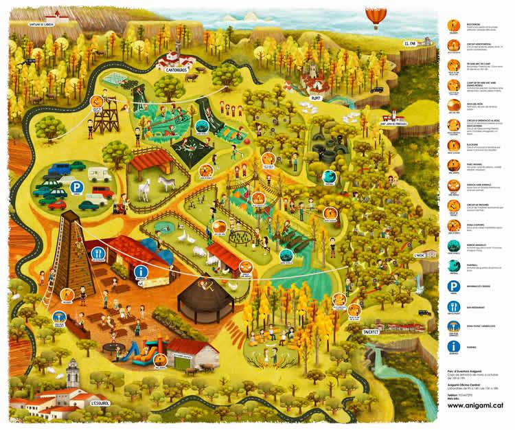 Parc d'Aventura d'Anigami mapa