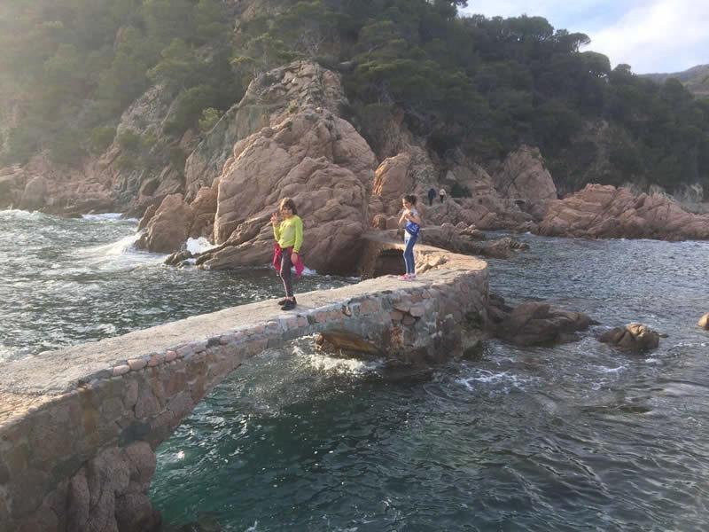 Els ponts de Cala Canyet a Santa Cristina d'Aro