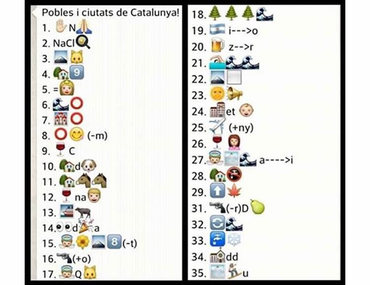 Jeroglífics de 35 poblacions de Catalunya