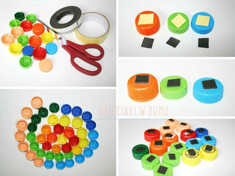 Reciclar taps de plàstic per jugar i aprendre