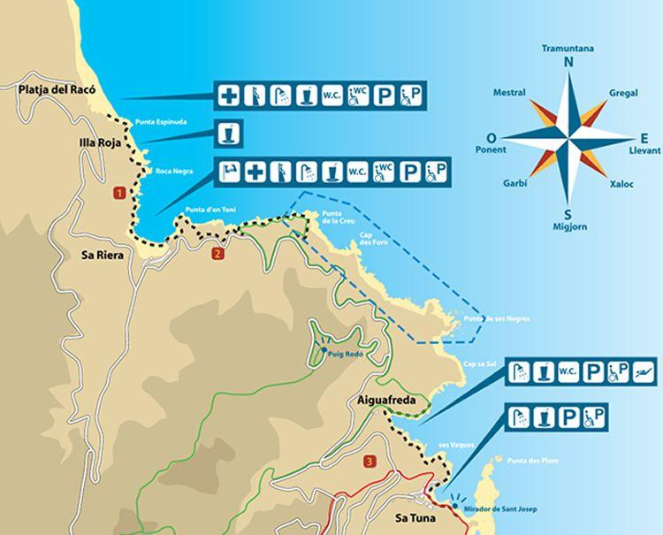 de Sa Riera a Illa Roja de Begur