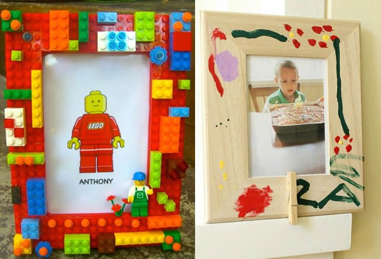 Manualitats infantils: creatius marcs per a fotos