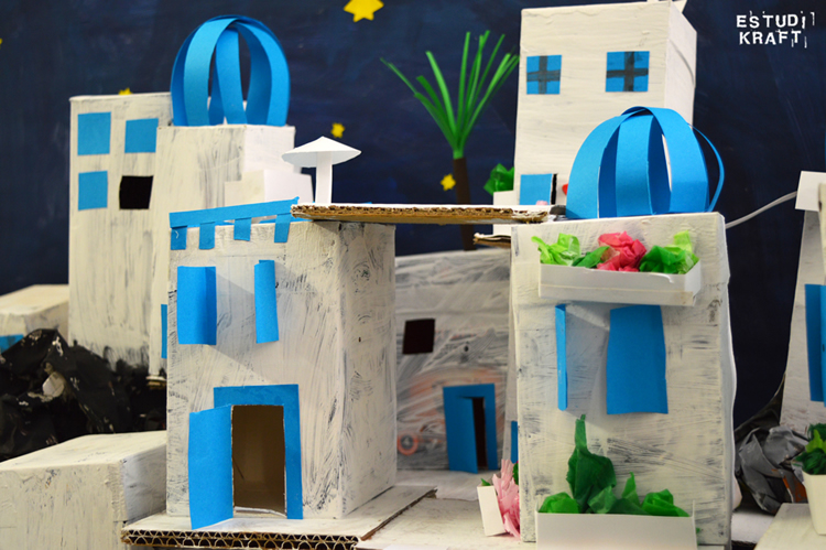 Taller per a nens d'Estudi KRAFT: Santorini