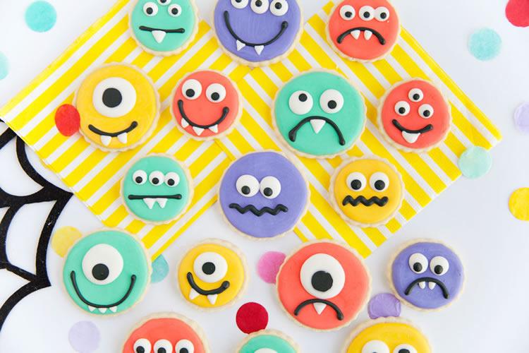 Decorar galetes amb els nens: fem galetes monstres !