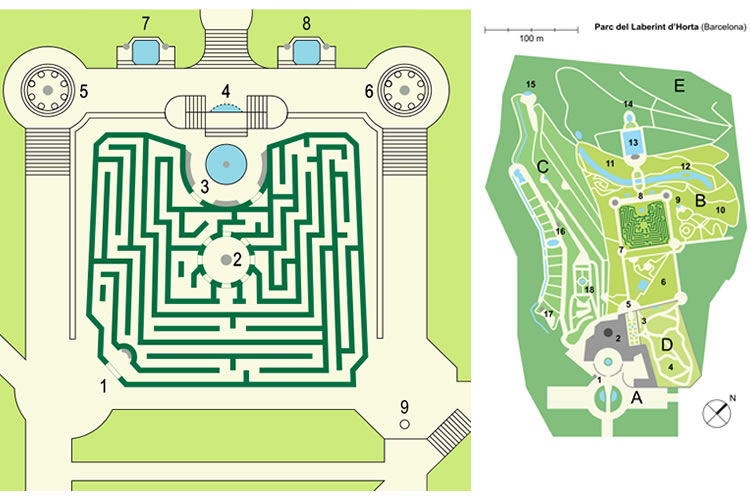 El Parc del Laberint d'Horta amb nens