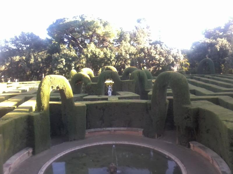 Parc del Laberint d'Horta amb nens