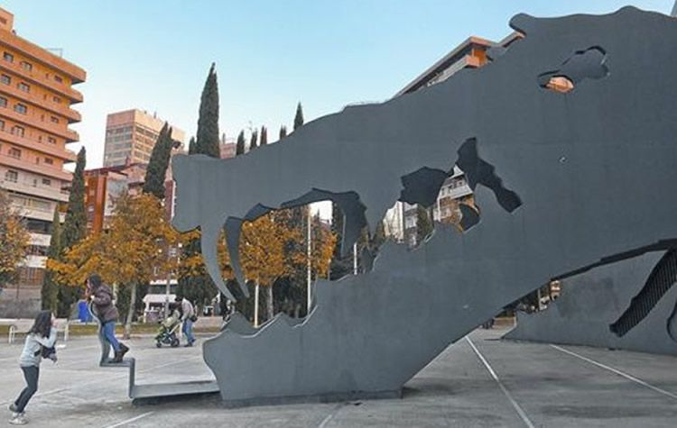 Parc de l'Espanya Industrial i el tobogan gegant del drac