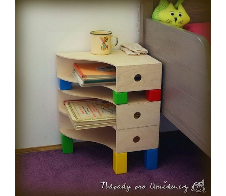 Idees de tauletes de nit per a l'habitació infantil