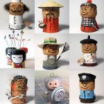 Manualitats amb taps de suro: personatges i oficis