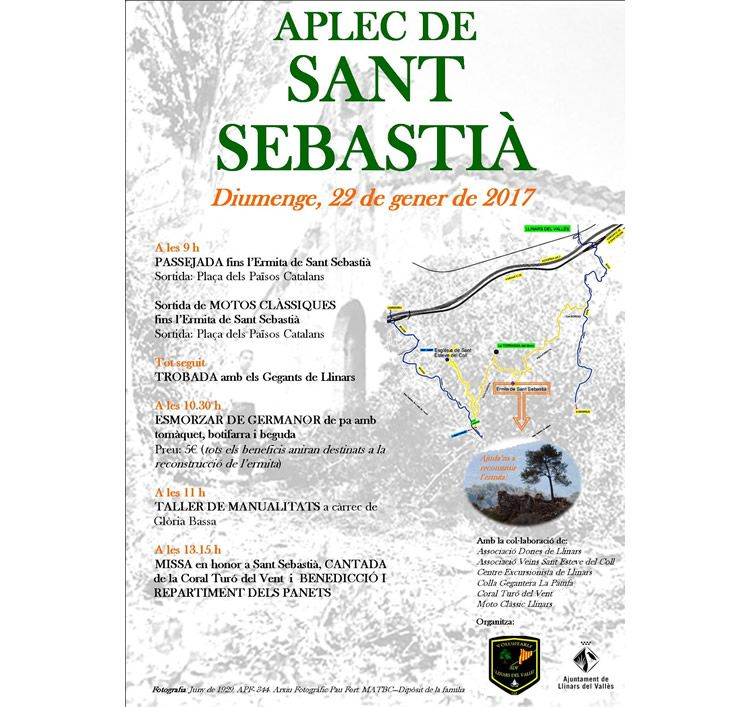 Aplec de Sant Sebastià a Llinars del Vallès