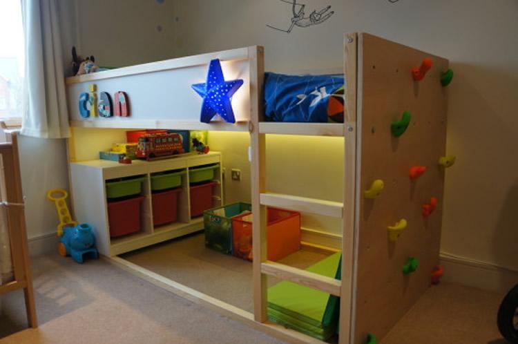 Idees per personalitzar el llit Kura d'Ikea