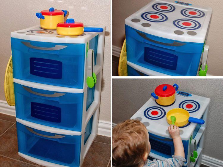 Cuinetes de joguina, models per fer-les a casa
