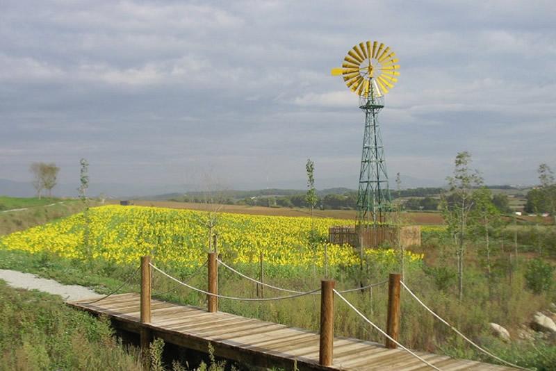 Parc dels Pinetons i la Font de Gallecs