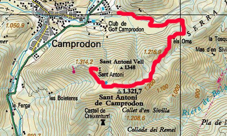 Pujada a l'ermita de Sant Antoni de Camprodon