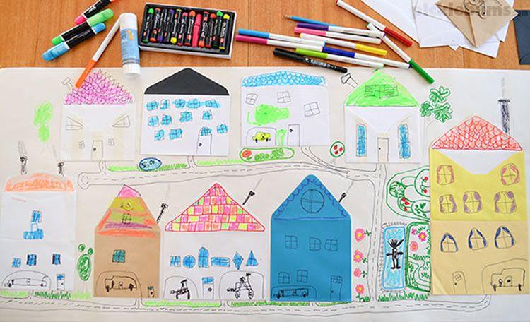 Com fer una ciutat amb sobres de paper