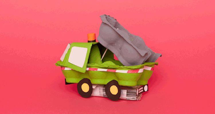 Reciclar oueres per fer creatius vehicles