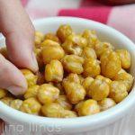 Snacks saludables de cigrons fets al forn