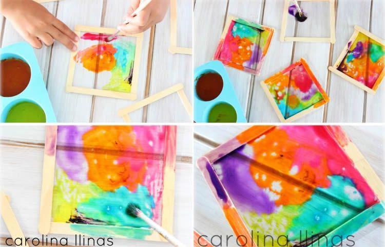 Com fer vitralls amb els nens sense vidre