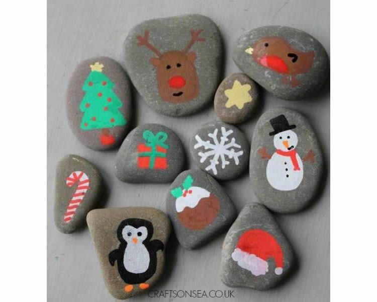 Decorar pedres per àrees temàtiques