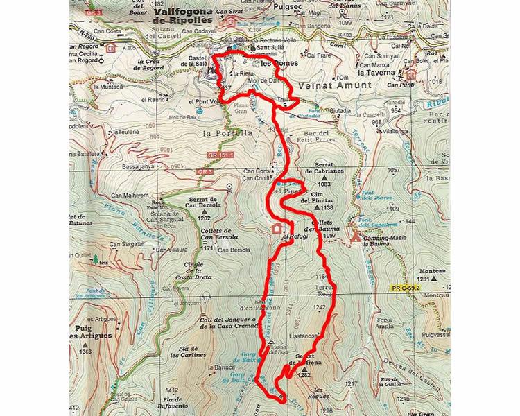 Torrent de la Masica i Font de la Tosca a Vallfogona del Ripollès