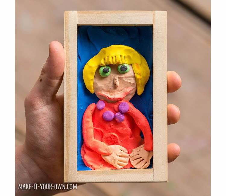 Com fer un retrat amb plastilina