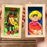 Com fer un retrat amb plastilina per a un marc de fusta