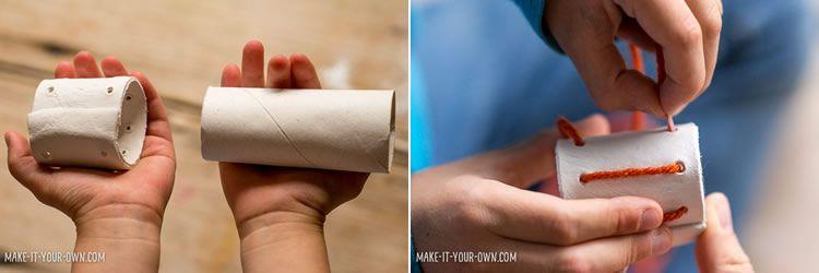 Com fer una anella per guardar el tovalló de guix i llana