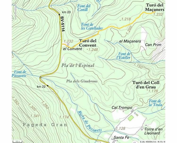 Turó de Maçaners i la fageda del Montseny