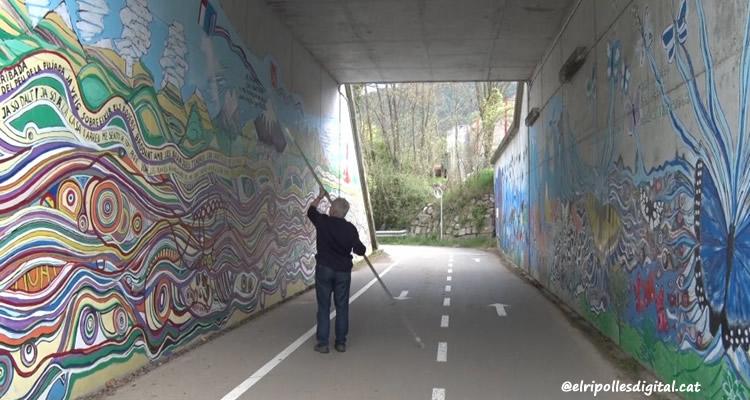 mural eudald alabau ruta del ferro