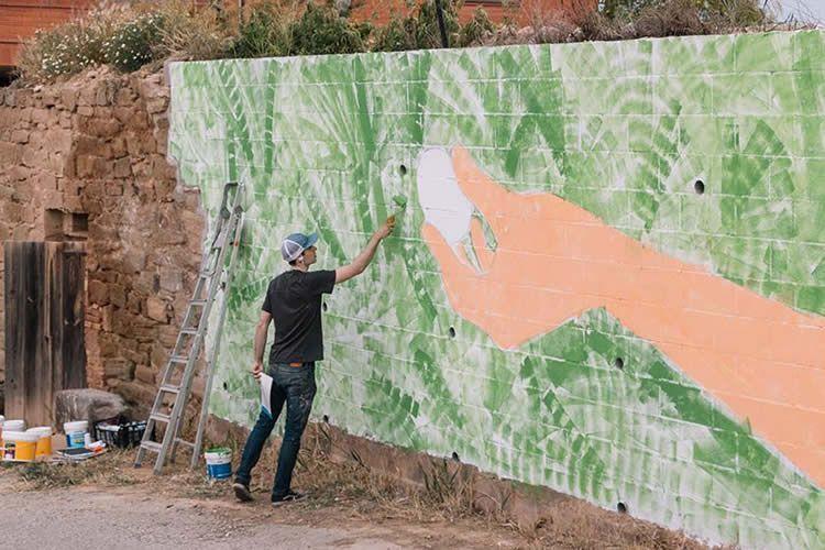Els murals d'art rural a Penelles. Festival Gargar