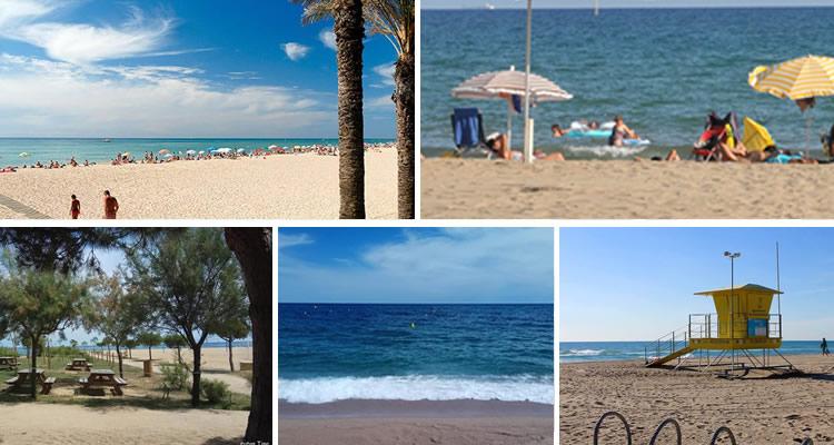Les platges de la Costa de Barcelona amb nens