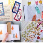 Punts de llibre per fer amb els nens. Marca pàgines personalitzats