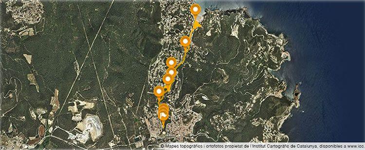 Camí de l'aigua fins la cala Sa Riera a Begur