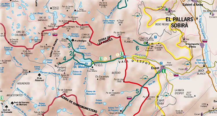 Cascada de Ratera ruta de l'Estany de Sant Maurici
