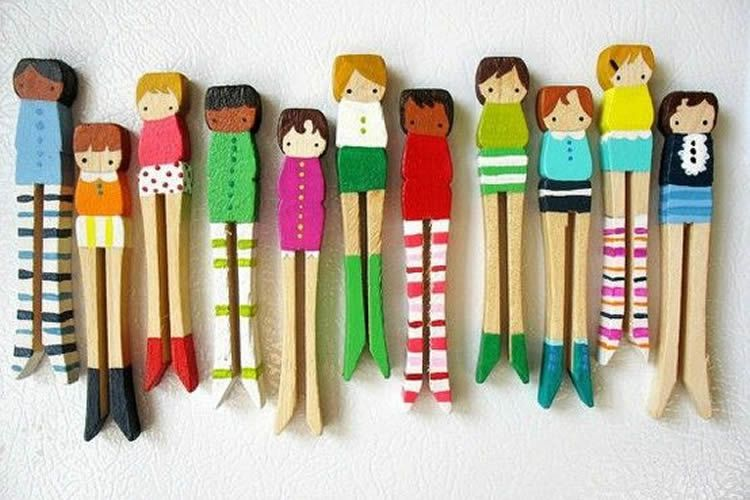 Com decorar i pintar agulles d'estendre