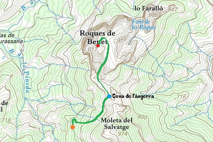 Cova de l'Angerra a Les Roques de Benet als Ports