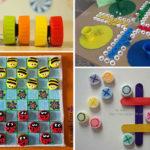 Jocs de taula amb taps de plàstic reciclats