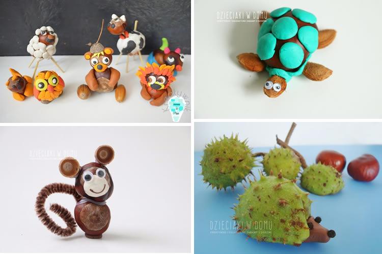 animals fets amb castanyes
