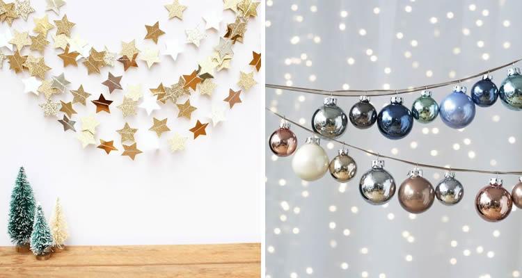 Garlandes nadalenques per fer a casa boles i estrelles