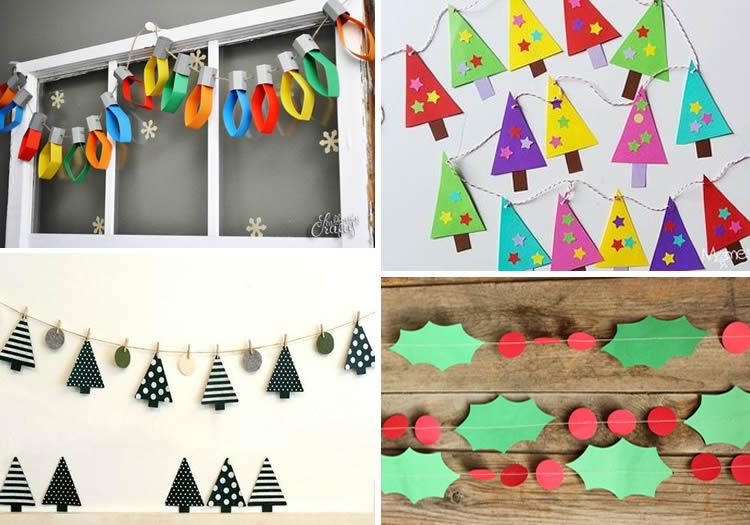 Garlandes nadalenques per fer a casa cartolina