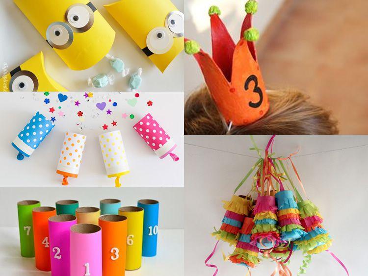 Tubs de cartró per a una festa infantil