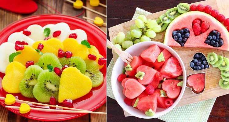 Creatius plats de fruites plens de vitamines